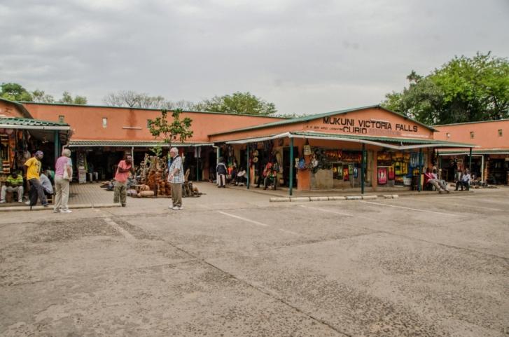 Mukuni Curio shop at Victoria Falls rainforest - Zambia