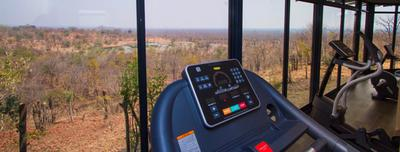 Fitness room with a view - Victoria Falls