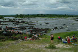 Zambezi River Picnic from Zimbabwe
