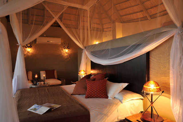 Safari room at Ngoma Safari Lodge. Victoria Falls and Chobe safari.