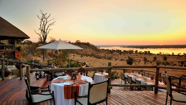 Sun over the river at Ngoma Safari Lodge - Chobe, Botswana