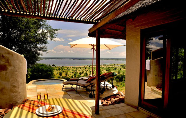 Ngoma Safari Lodge room view, Chobe, Botswana