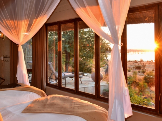 Rooms with a view at Ngoma Safari Lodge - Chobe National Park, Botswana