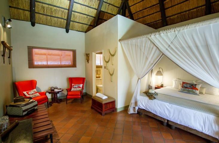 Nguni Lodge deluxe room in Victoria Falls, Zimbabwe