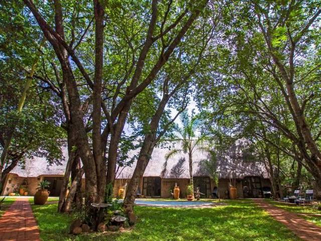Garden at Nguni Lodge in Victoria Falls, Zimbabwe