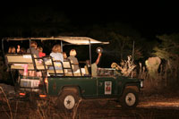 Night drive and bush dinner in Victoria Falls, Zimbabwe