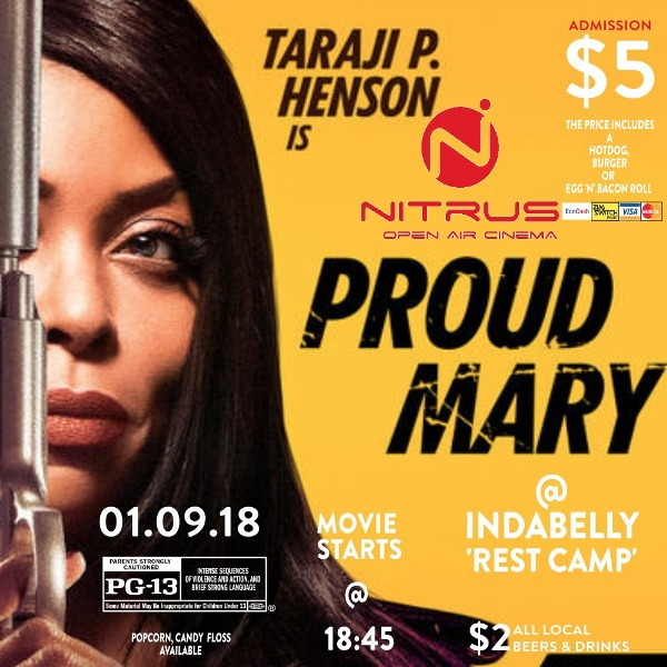 Proud Mary movie under the stars in Victoria Falls, Zimbabwe