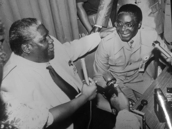 Joshua Nkomo and Robert Mugabe
