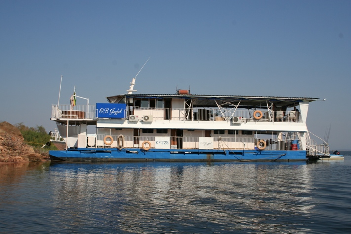 Moored on Lake Kariba