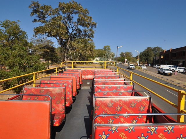 The top deck of the bus