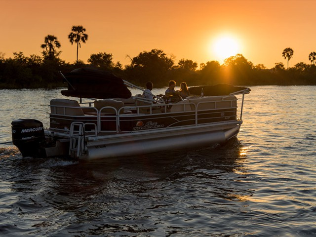 Sunset on the Zambezi River from Old Drift Lodge - Victoria Falls, Zimbabwe