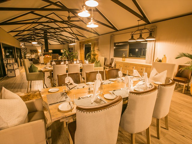 Dining area under the main lodge