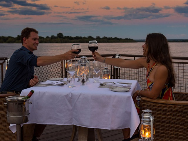 Or private dining on the jetty
