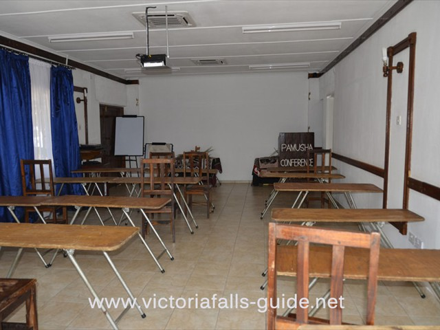 Classroom style conference room