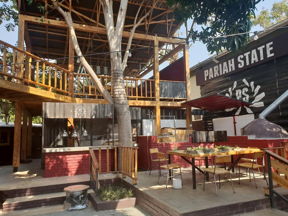 Pariah State now in Victoria Falls, Zimbabwe - in the town center