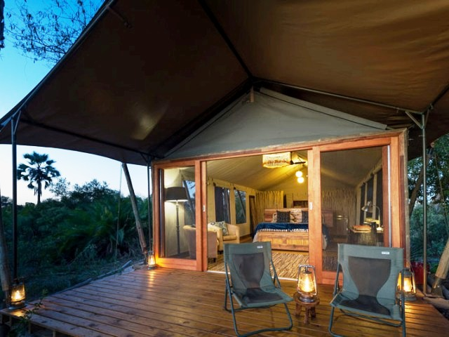 Tented Pelo Camp in the Okavango Delta