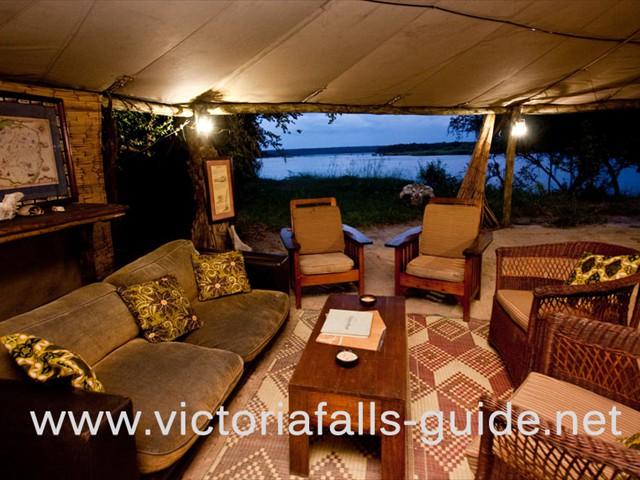 The camp lounge area