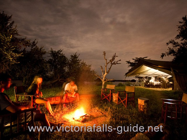 ...or even better chill by the fire pit under the African stars