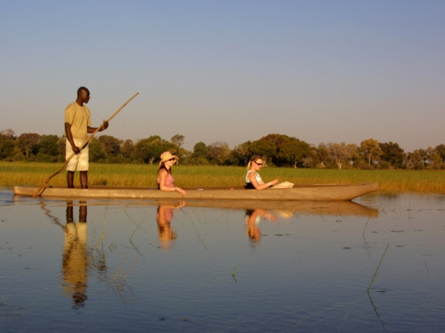 Signature makoro canoe trips in the Okavango Delta with Pom Pom Camp