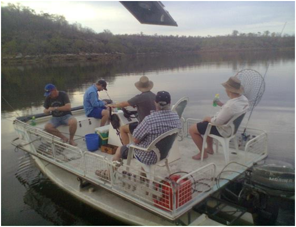 Fishing on Lake Kariba