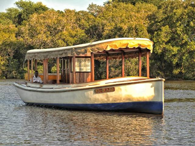 The Ra Ikane on the Zambezi River near Victoria Falls, Zimbabwe