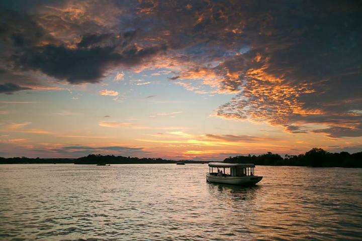Ra Ikane luxury Sunset cruise on the Zambezi River - Victoria Falls activities, Zimbabwe