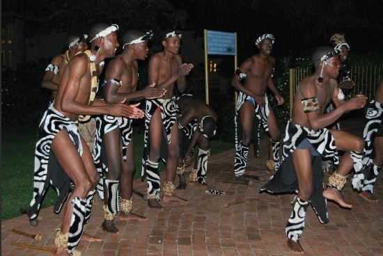 Traditional dancers entertain