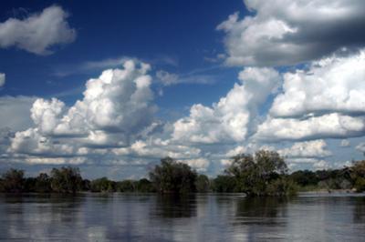 Swollen Waters of the Zambezi River