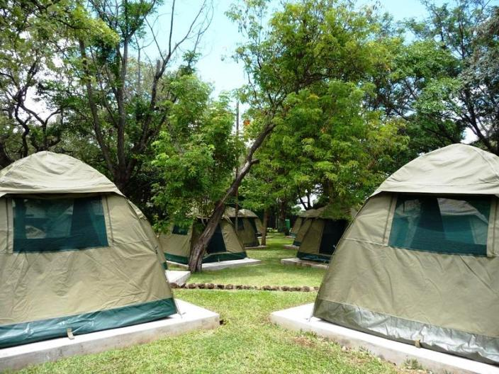 Green gardens at Victoria Falls Rest Camp - camping Victoria Falls accommodation