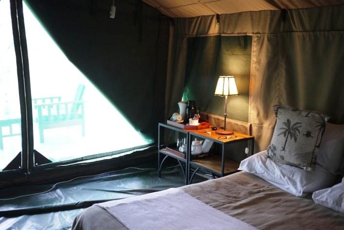 Inside a luxury tent