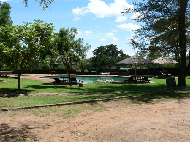 Pool beside the volleyball court