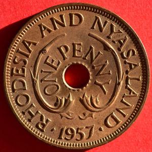 1957 Rhodesia & Nyasaland penny