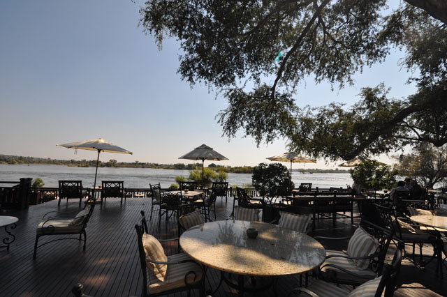 The deck facing the mighty Zambezi River