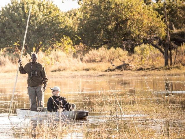 Mokoro rides from Rra Dinare Camp, Okavango Delta, Botswana