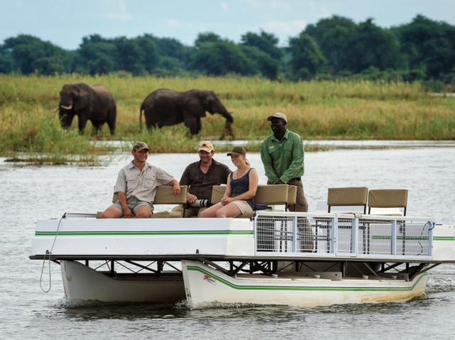 Ruckomechi Camp river cruise - Mana Pools National Park, Zimbabwe