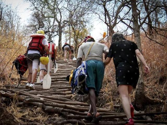 Zambezi River rafting put out - Victoria Falls