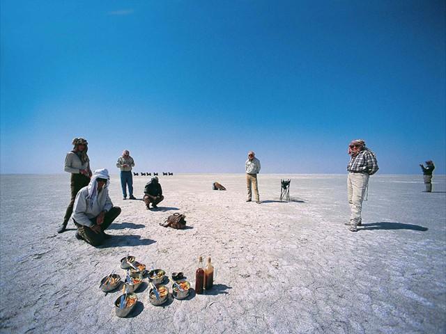 Lunch on the Makgadikgadi salt pans