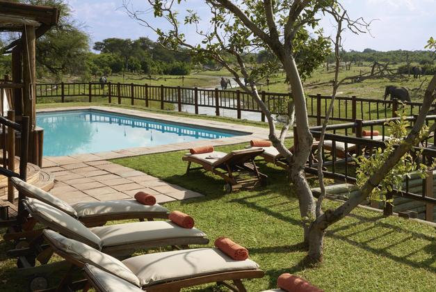 Savute Elephant Camp poolside - Savute, Chobe, Bostwana