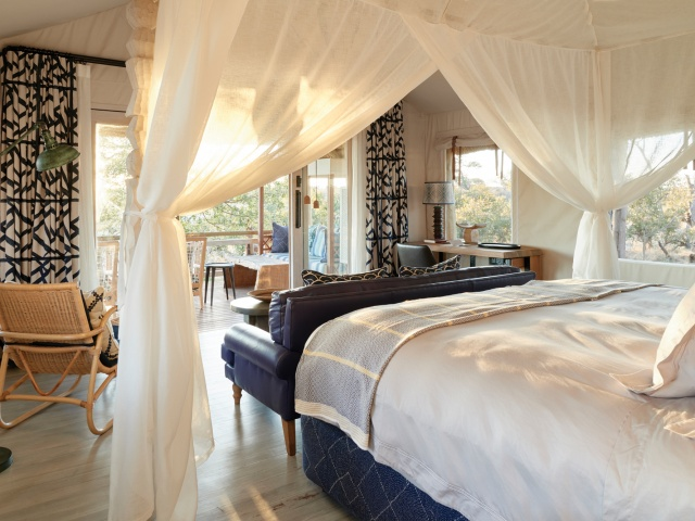 Beautiful spacious luxury suites at Savuet Elephant Lodge in Botswana