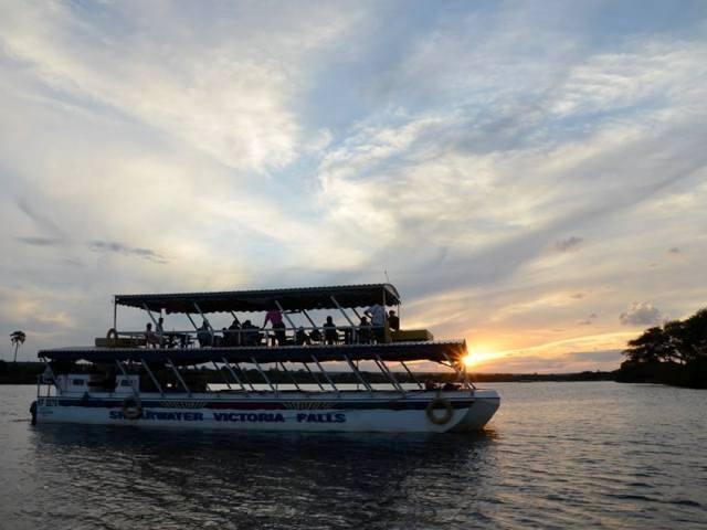 Zambezi river sunset cruise in Victoria Falls, Zimbabwe