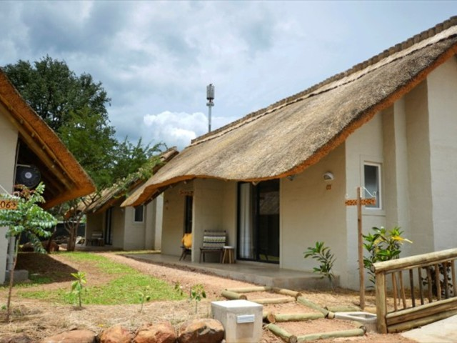 Chalets at Explorers Village near Victoria Falls Rainforest, Zimbabwe