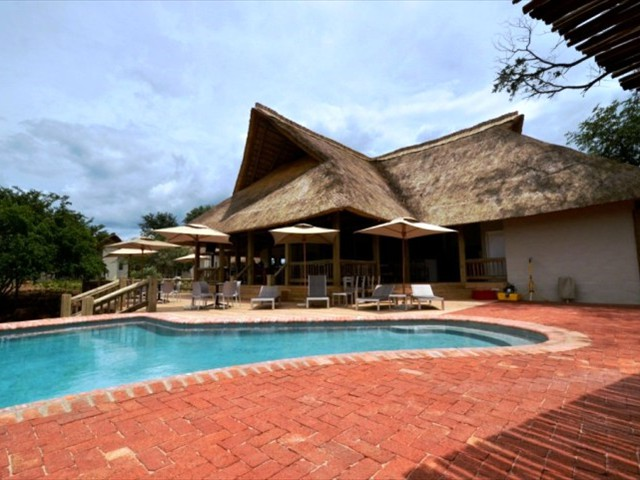 The main building at Explorers Village in Victoria Falls, Zimbabwe