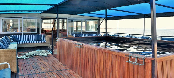 The chill spot on the Shikra Houseboat on Lake Kariba