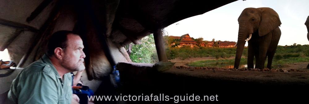 The Siduli Hide at Victoria Falls Safari Lodge