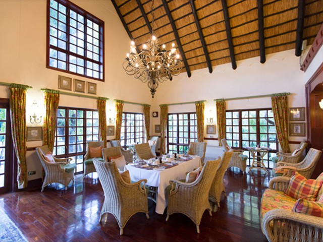 Dine in style in the main lodge
