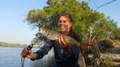 Anna Ivanov with one of her two fish