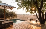 Private deck with plunge pool for family suites