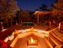 Cosy guest area with fire pit and plunge pool
