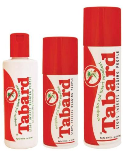 Tabard instect repellent - great for holidays to Victoria Falls and the surrounding region