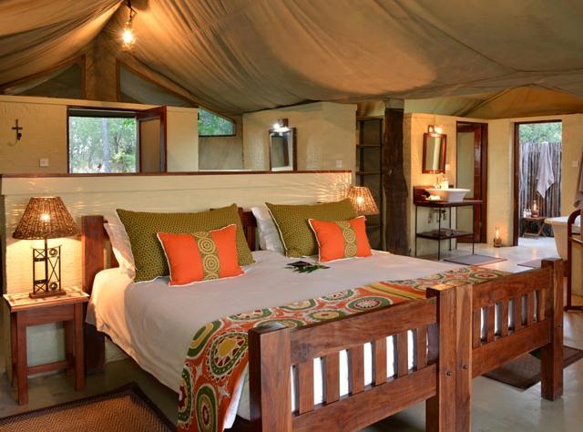 Deluxe room at The Hide Safari Camp in Hwange National Park, Zimbabwe